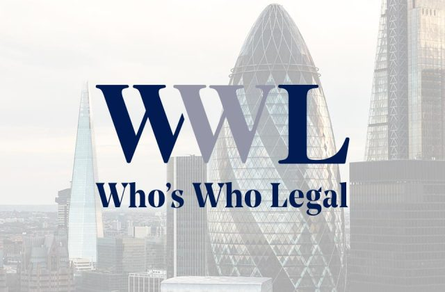 Steenson Nicholls recognised in the Who's Who Legal Asset Recovery Guide 2019